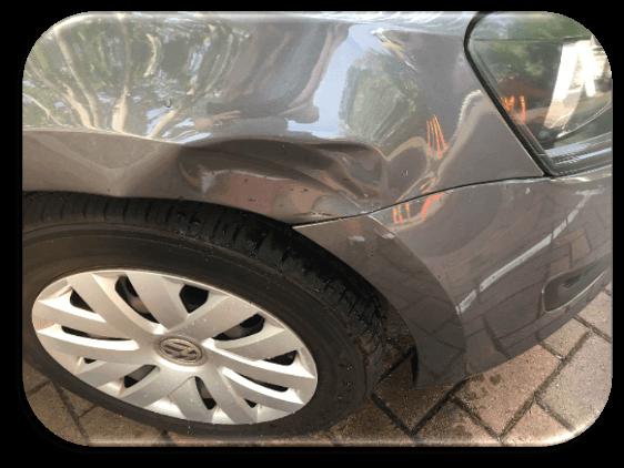 Damaged Car Guard