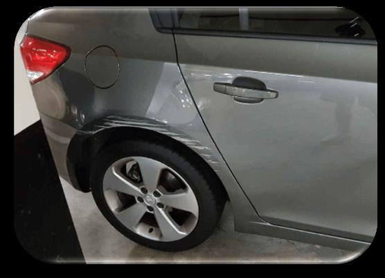 Damaged Car Quarter Panel