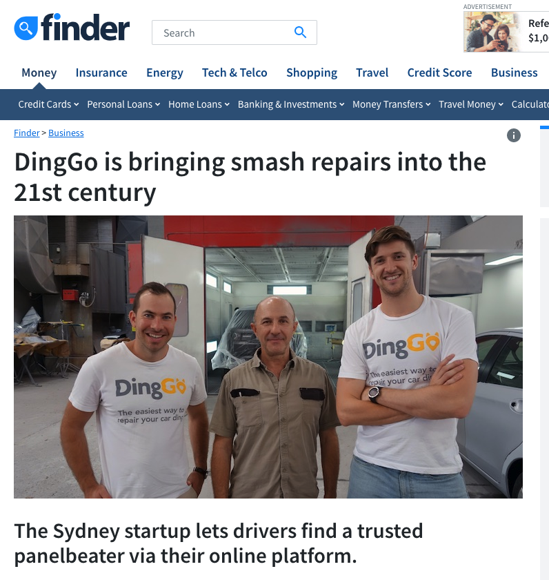 DingGo Finder Article