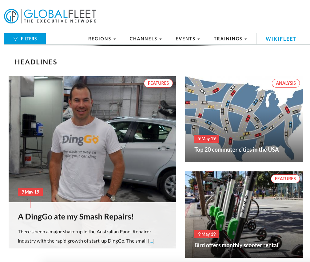 DingGo Global Fleet Article