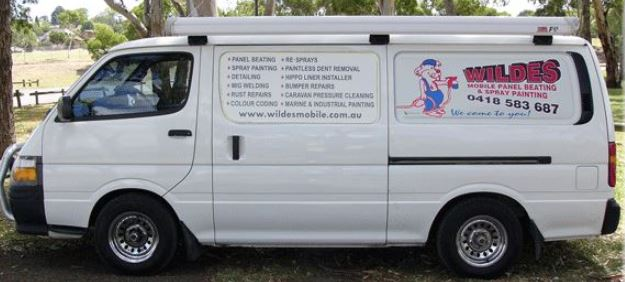 A Wildes mobile panel beating & spray painting